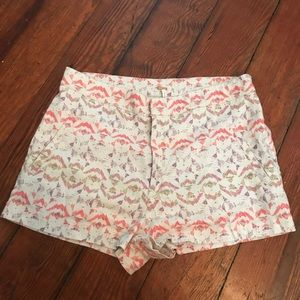 FREE PEOPLE Multicolor Linen Shorts. Size 4.